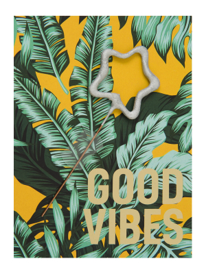"Mini kartiņa, ""Good vibes"" 11,5 cm x 8,5 cm"