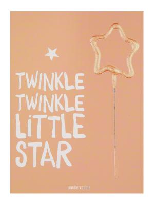 """Mini kartiņa, """"Twinkle Twinkle little Star"""" 11,5 cm x 8,5 cm"""