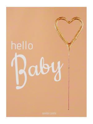 "Mini kartiņa, ""Hello Baby"", 11,5 cm x 8,5 cm"