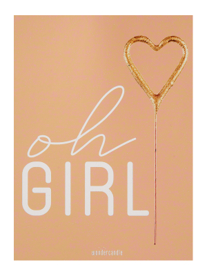 "Mini kartiņa ""oh Girl"", 11,5 cm x 8,5 cm"