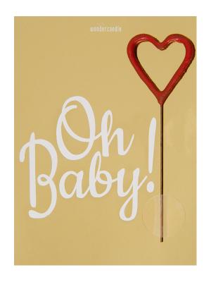 "Mini kartiņa, ""Oh Baby"", 11,5 cm x 8,5 cm"
