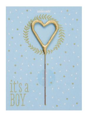 """Mini kartiņa, """"It`s a Boy"""", 11,5 cm x 8,5 cm"""