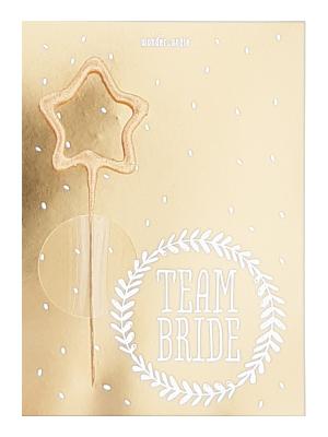 """Mini kartiņa """" Team Bride """", 11,cm5 см x 8,5 cm"""