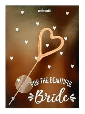 "Mini kartiņa, "" For the beautiful bride "", 11,5 cm x 8,5 cm"