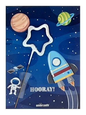 """Mini kartiņa, Kosmoss """"Hooray!"""", 11,5 см x 8,5 см"""