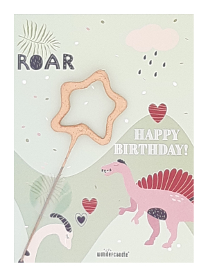 "Mini kartiņa, Dinazauri ""Roar Happy birthday"", 11,5 см x 8,5 см"