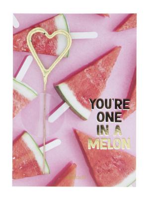 """Mini kartiņa """"You`re one in a melon"""", 11,5 cm x 8,5 cm"""
