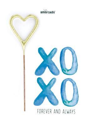 "Mini kartiņa, ""XOXO Forever and always"" 11,5 cm x 8,5 cm"