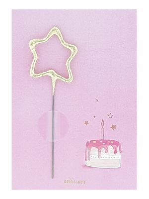 Mini kartiņa, dzimšanas dienas kūka 11,5 cm x 8,5 cm