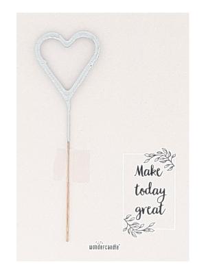 "Mini kartiņa ""Make today great"" 11,5 cm x 8,5 cm"