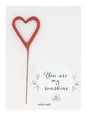 "Mini kartiņa ""You are my sunshine"" 11,5 cm x 8,5 cm"