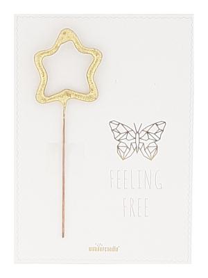 "Mini kartiņa ""Feeling Free"", 11,5 cm x 8,5 cm"