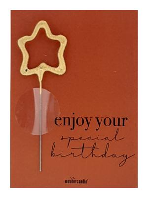 """Mini kartiņa """"Enjoy your special birthday"""", 11.5 cm x 8.5 cm"""