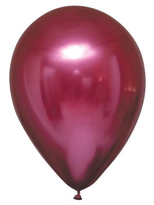 Lateksa balons, satīns /hromēts, granātābola krāsā, 27,5 cm