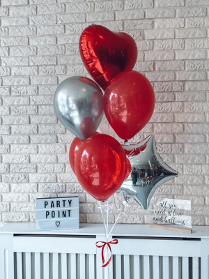 Hēlija balonu pušķis
