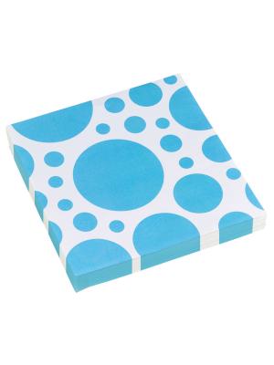 20 gab, Salvetes, zils, aplīši, 33 x 33 cm