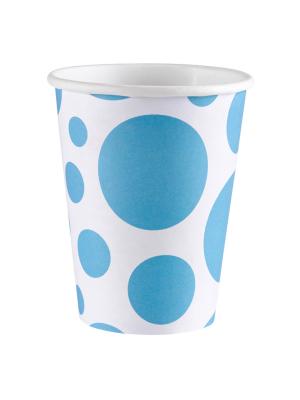 8 gab. Papīra glāzes, aplīši, zils, 266 ml