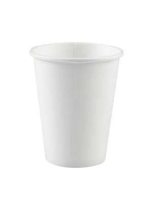 8 gab. Papīra glāzes, balts, 266 ml
