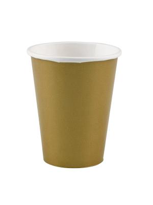 8 gab. Papīra glāzes, zelts, 266 ml