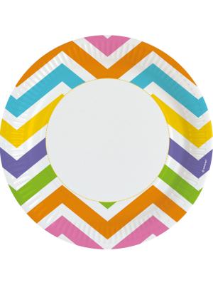 8 gab, Papīra šķīvis, varavīksne, diametrs 22,8 cm