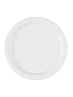 8 gab, papīra šķīvis, balts, diametrs 22,8 cm