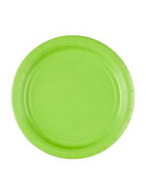 8 gab, papīra šķīvis, kivi zaļš, diametrs 22,8 cm
