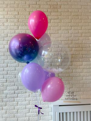 """Hēlija balonu pušķis """"Sfēra 3D + Orbz + 7 baloni"""""""