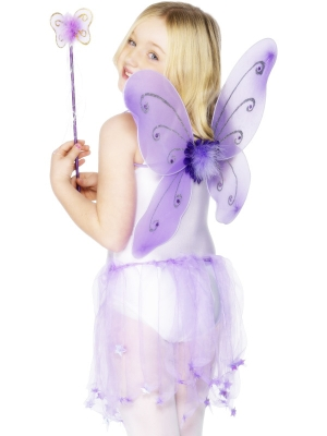 Taureņa komplekts, violets, 42 x 38 cm