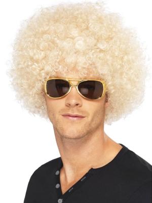 Afro parūka, blonda