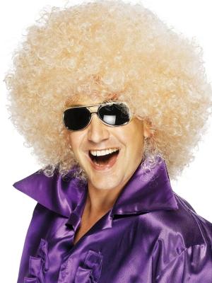 Liela afro parūka, blonda