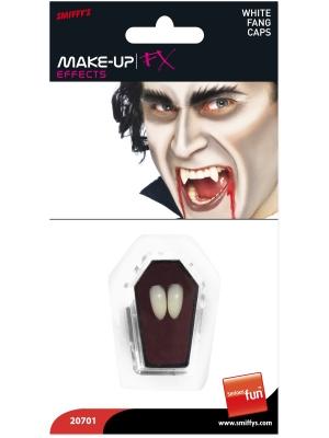 Vampīra ilkņi, balti