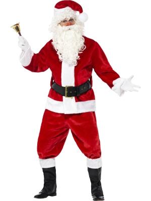 Ziemassvētku vecīša kostīms, samts, (augstākā kvalitāte)