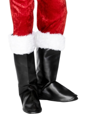 Ziemassvētku vecīša apavu uzmavas ar pūkām