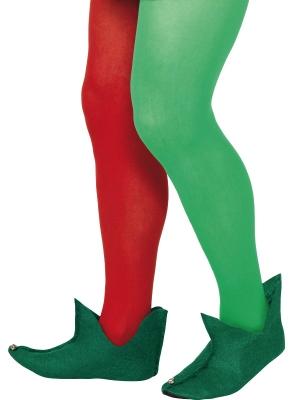 Elfa čībiņas ar zvaniņiem, zaļas