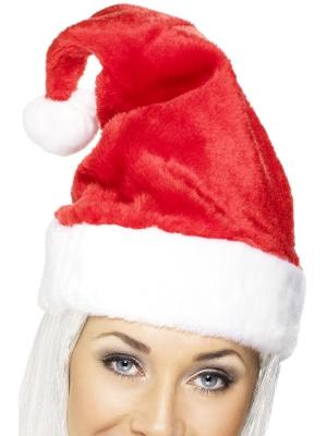 Ziemassvētku cepure, sarkana (velveta)