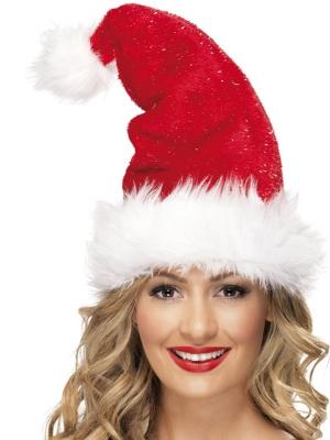 Ziemassvētku cepure ar pūkām