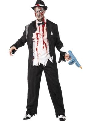 Zombija gangstera kostīms